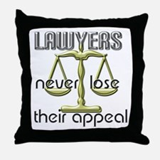 Lawyers Appeal Throw Pillow