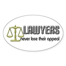 Lawyers Appeal Oval Bumper Stickers