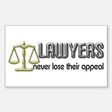Lawyers Appeal Rectangle Bumper Stickers
