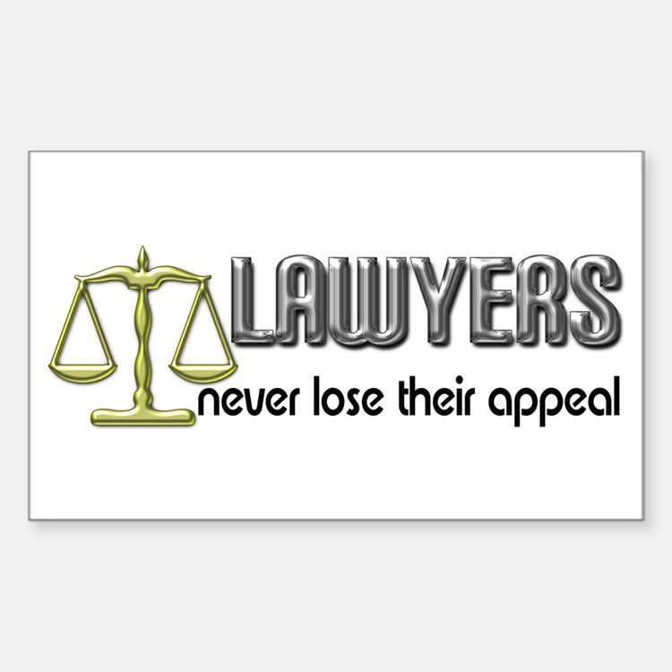 Lawyers Appeal Rectangle Decal