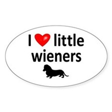 Love Little Wieners Oval Decal
