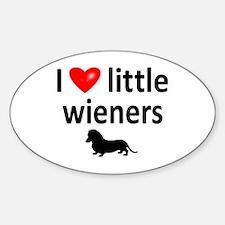 Love Little Wieners Oval Decal