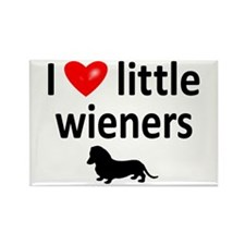 Love Little Wieners Rectangle Magnet