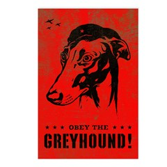 Obey the Greyhound! icon Postcards (Pack of 8)