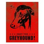 Obey the Greyhound! icon propaganda Poster