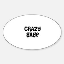 CRAZY GAGE Oval Decal