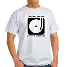 Steal Music Ash Grey T-Shirt
