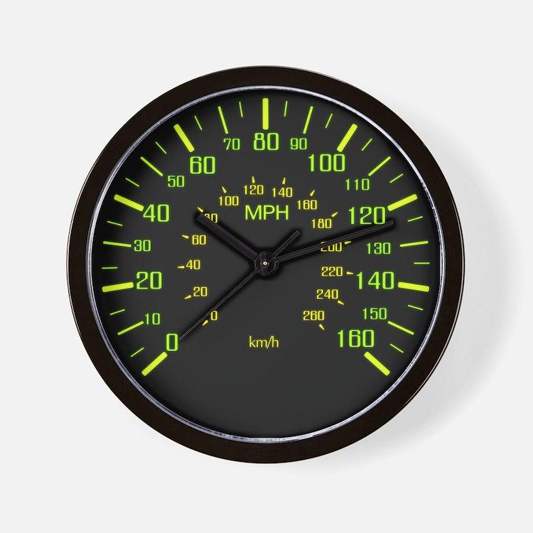 Speedometer Clock