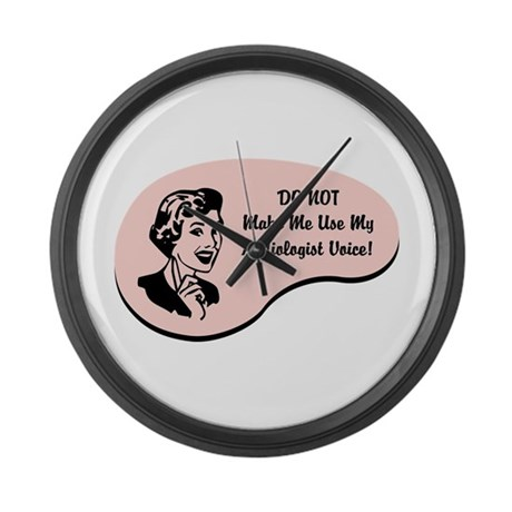 Audiologist Voice Large Wall Clock