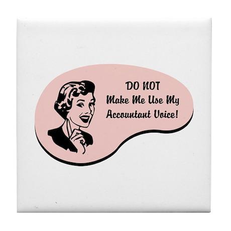 Accountant Voice Tile Coaster
