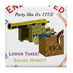End the Fed Tile Coaster