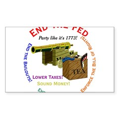 End the Fed Rectangle Decal