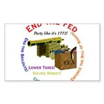 End the Fed Rectangle Sticker