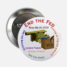 "End the Fed 2.25"" Button"