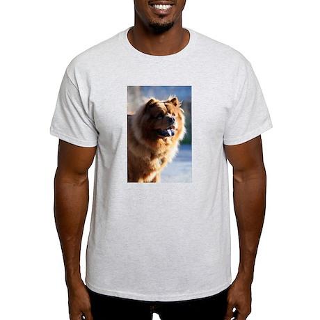 Smiley Chow Ash Grey T-Shirt