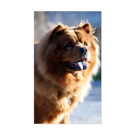 Smiley Chow Rectangle Sticker