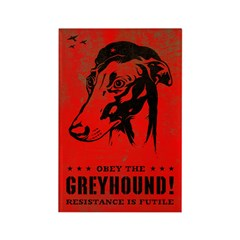 Obey the Greyhound! icon Rectangle Magnet