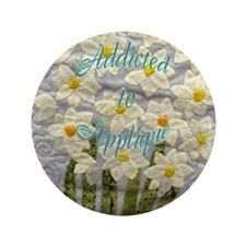 "Addicted to Applique 3.5"" Button"