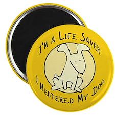 """I Neutered My Dog 2.25"""" Magnet (100 pack)"""