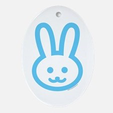 BABY BUNNY  Oval Ornament