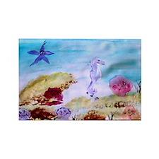 """Marine Life Fantasy"" Rectangle Magnet"
