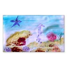 """Marine Life Fantasy"" Rectangle Decal"