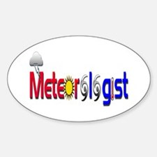 Meteorologist Oval Decal