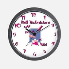 Nail Technicians Wall Clock
