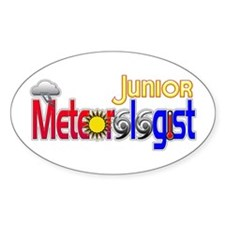 Junior Meteorologist Oval Decal