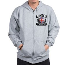 London England Zip Hoody