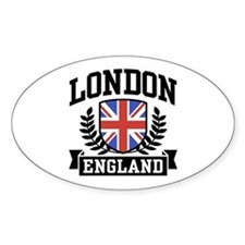 London England Oval Decal