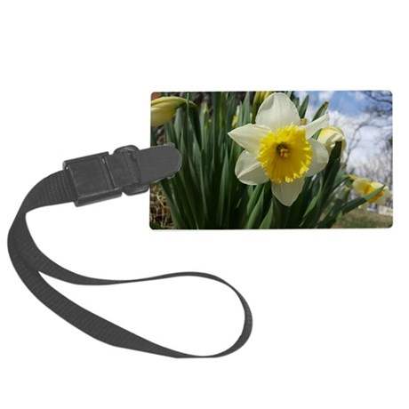 Yellow and White Daffodil Luggage Tag