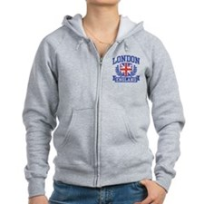 London England Zip Hoody