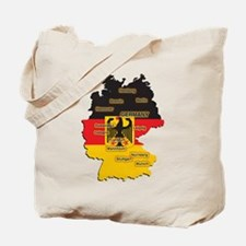 Germany Map Tote Bag