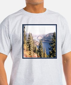 Lake Coeur d'Alene Idaho Ash Grey T-Shirt
