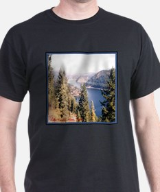 Lake Coeur d'Alene Idaho Black T-Shirt