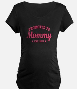 Promoted to Mommy 2017 Maternity T-Shirt
