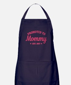 Promoted to Mommy 2017 Apron (dark)
