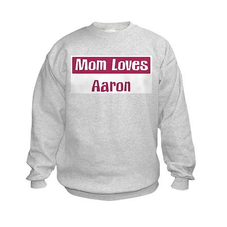 Mom Loves Aaron Kids Sweatshirt