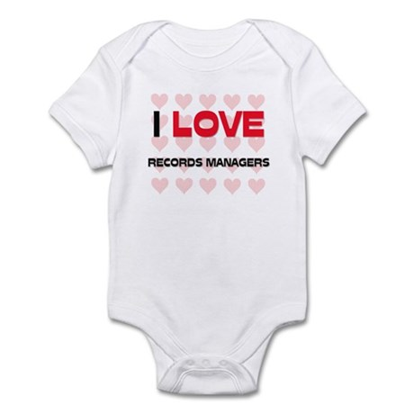 I LOVE RECORDS MANAGERS Infant Bodysuit