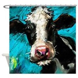 Cow painting Shower Curtains