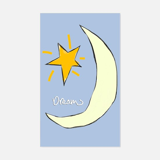 Sweet Dreams Moon Graphic, Rectangle Decal