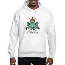 Kiss Me or I'll Fart Frog Hoodie