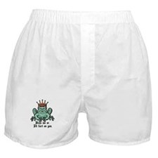 Kiss Me or I'll Fart Frog Boxer Shorts