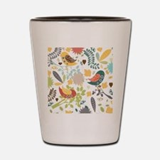 Woodland Birds Shot Glass