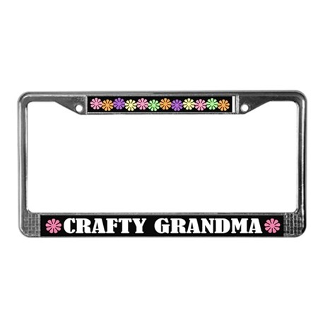 Crafty Grandma License Plate Frame