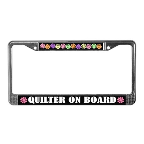 Quilter On Board License Plate Frame