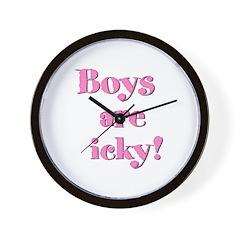 Boys are icky Wall Clock