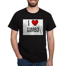 I LOVE GUMBO Black T-Shirt
