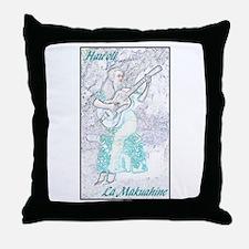 Wahine Ki Ho`alu Throw Pillow